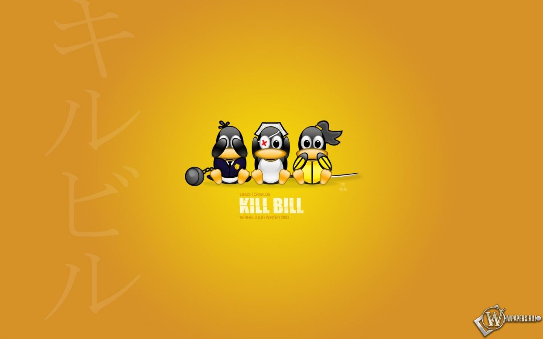 Пингвины, Linux, kill bill, обои для рабочего стола