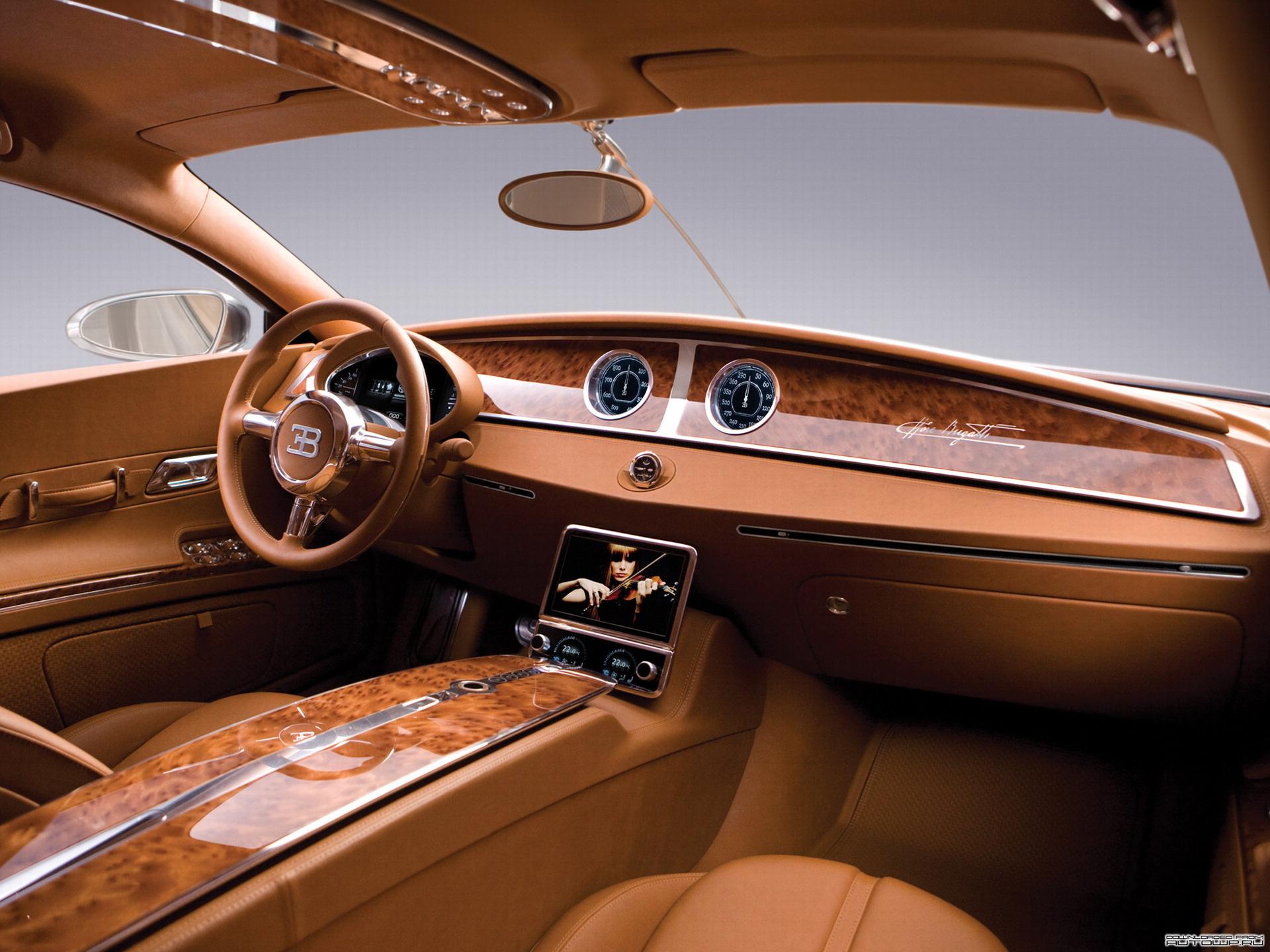 кожанный салон машины, Bugatti veyron, wallpaper