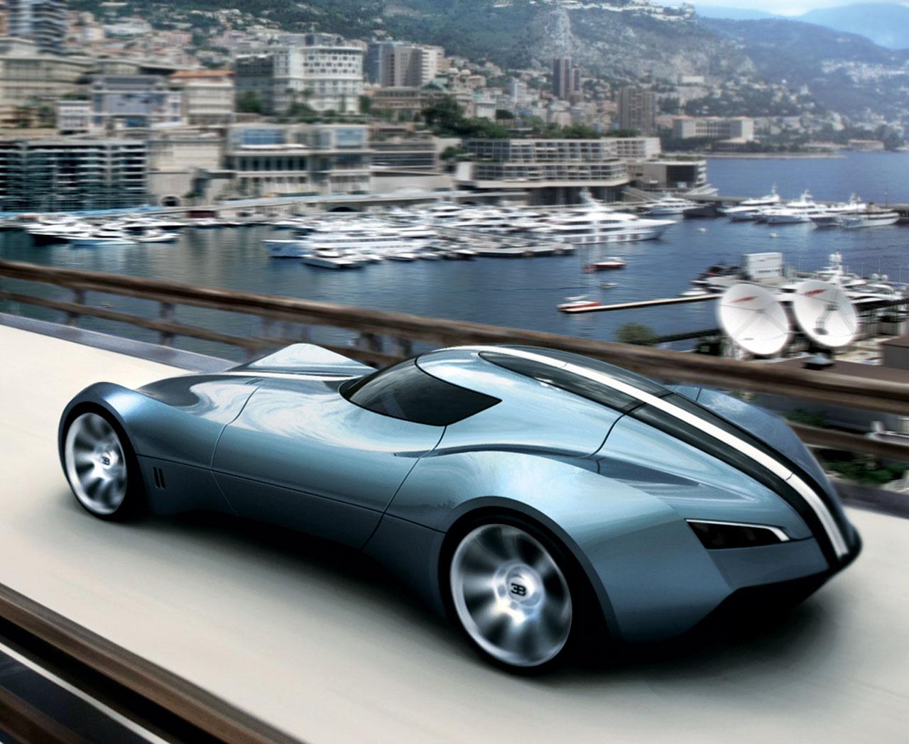 Blue concept, car, Bugatti, car, wallpaper, скачать фото обои на рабочий стол
