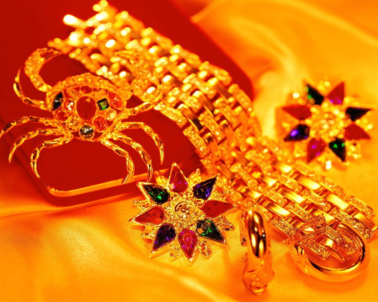gold, золотые украшения, скачать фото, обои для рабочего стола