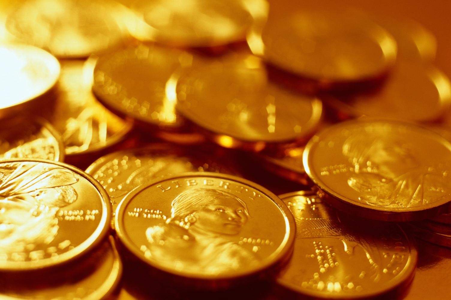 gold money, золотые монеты, скачать фото, обои для рабочего стола