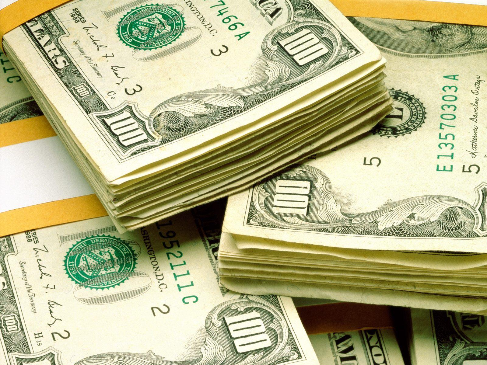доллары, пачки денег, обои для рабочего стола, dollars wallpaper