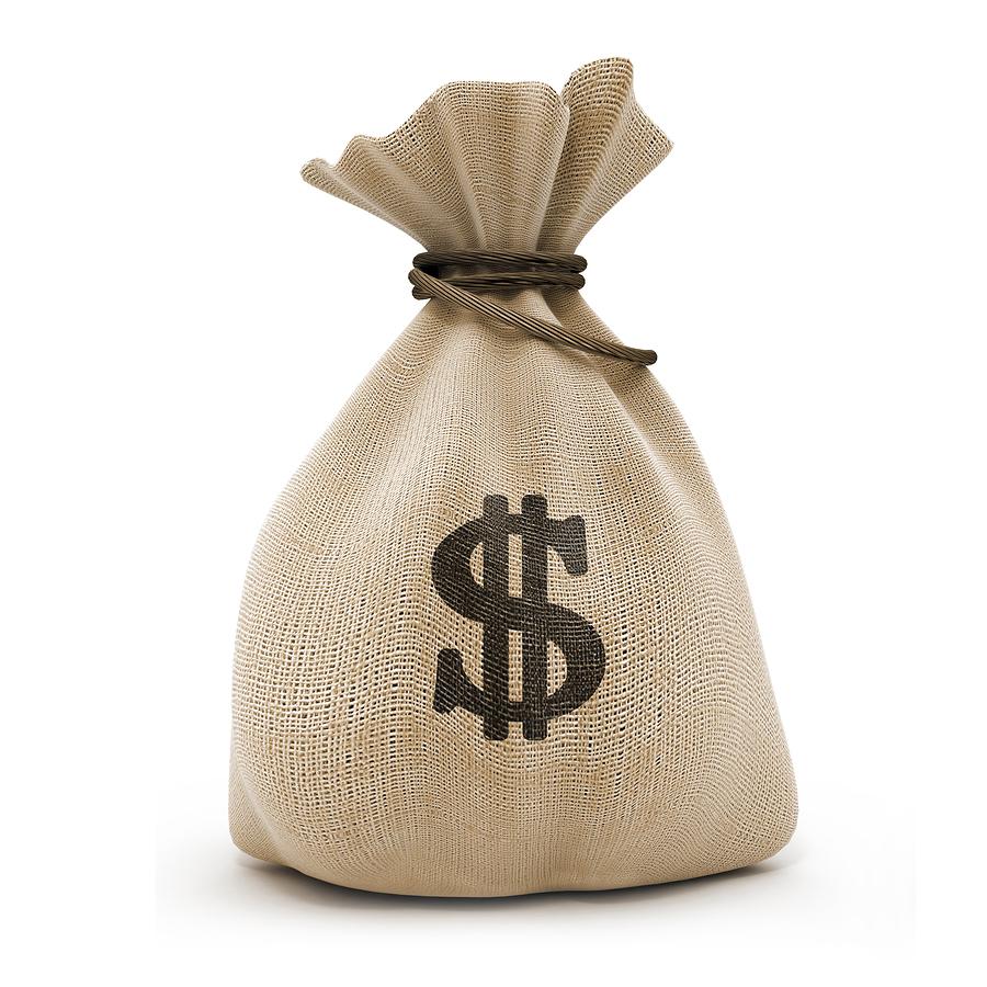 мешок денег скачать фото, доллары, обои для рабочего стола