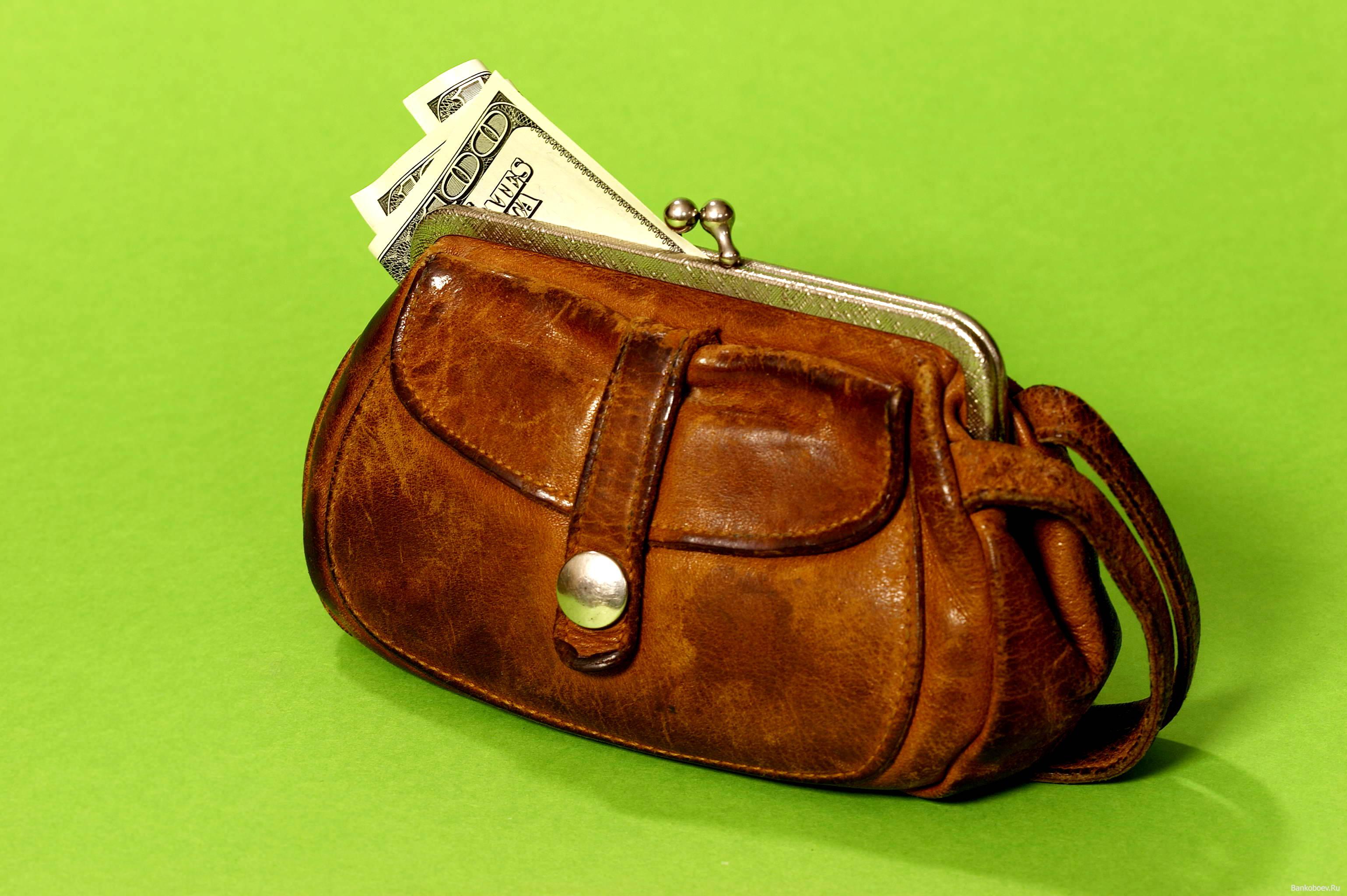 кошелек, доллары, обои на рабочий стол