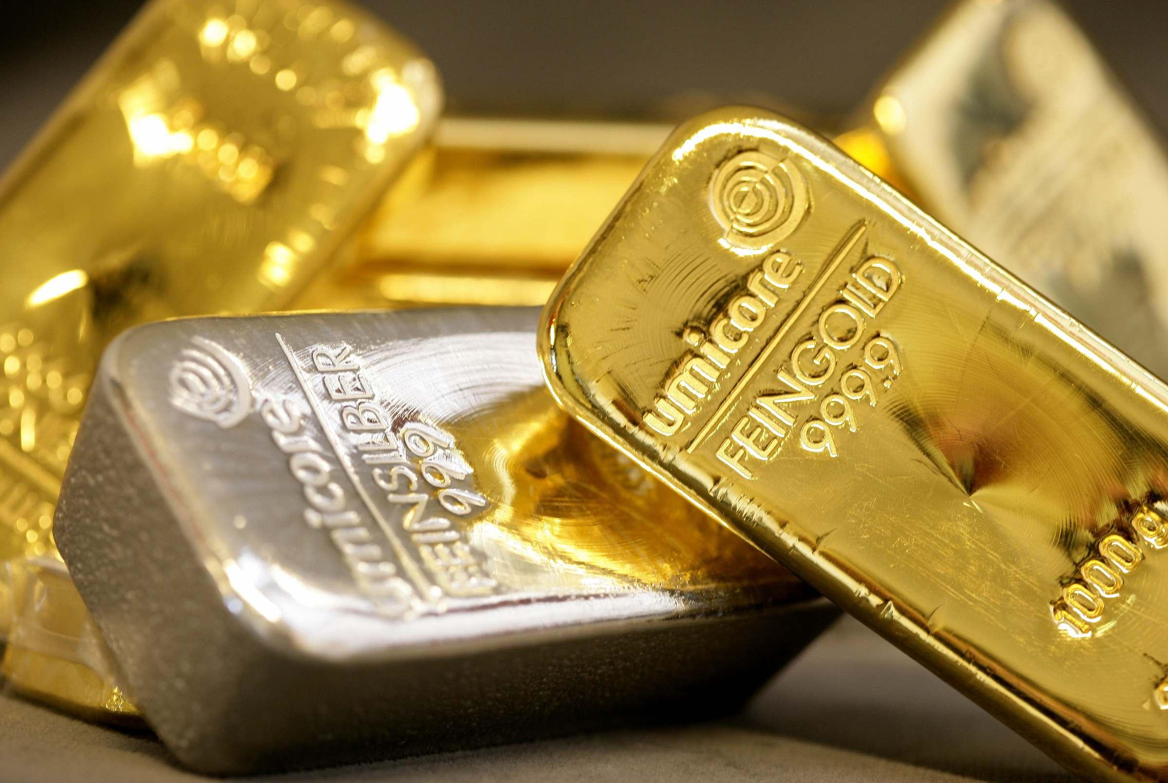 золотые слитки, скачать фото, обои для рабочего стола, gold