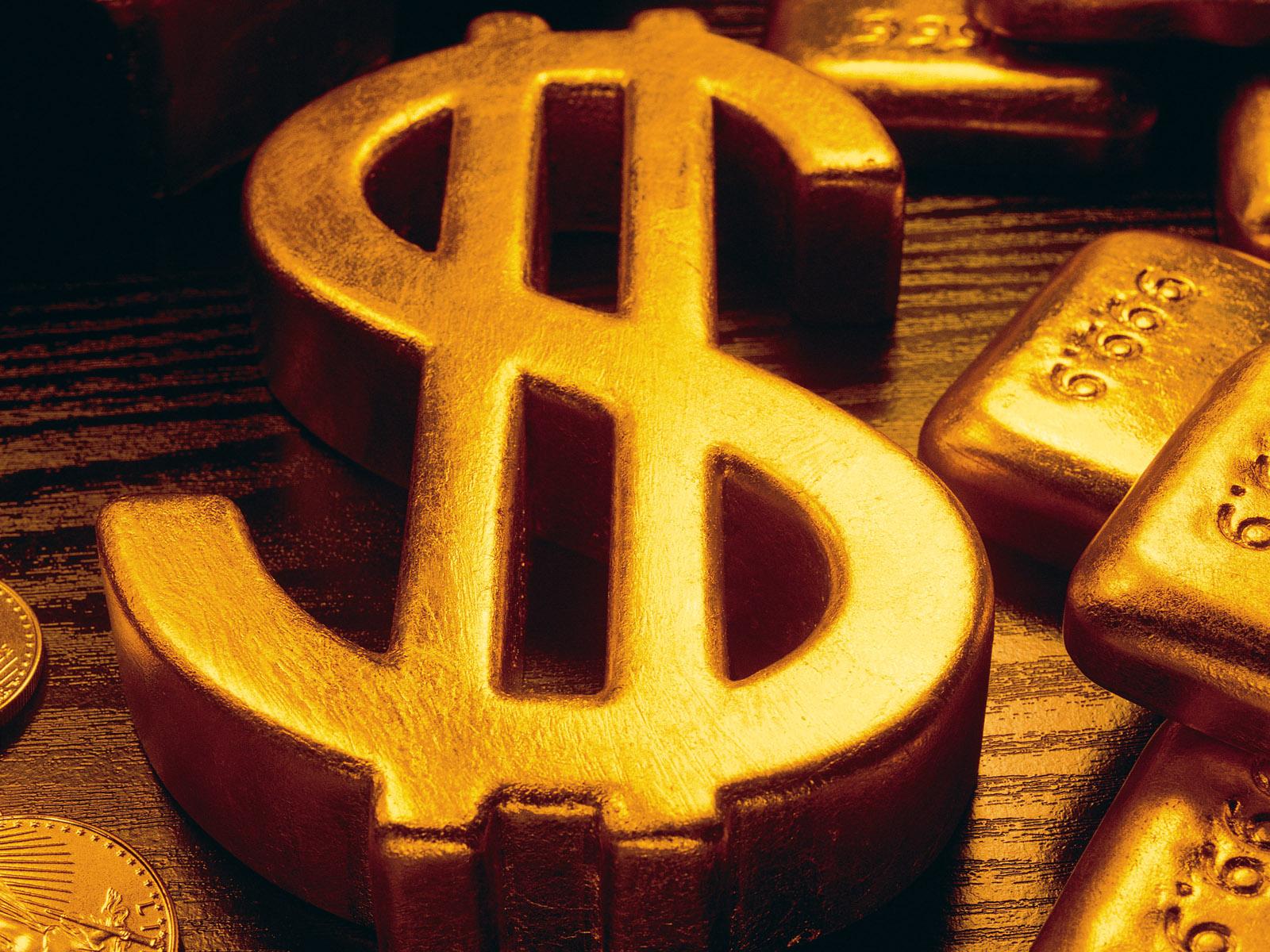 dollar, gold, скачать фото, обои для рабочего стола