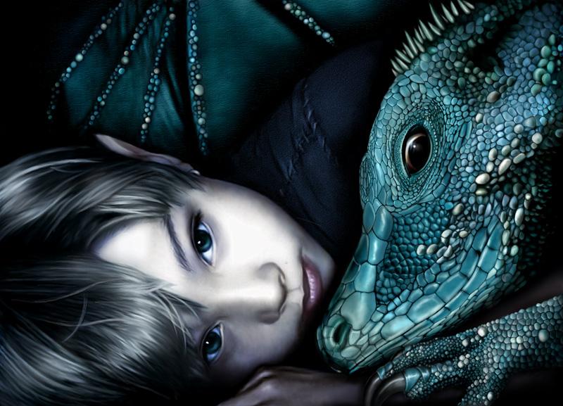 мальчик эльф и дракон, скачать фото, обои для рабочего стола