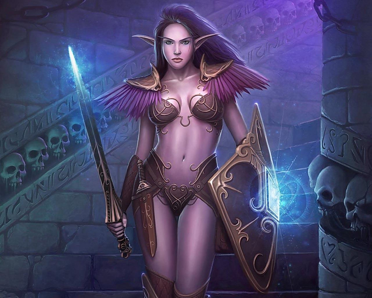 сексуальная девушка эльф, скачать фото, обои на рабочий стол, elf