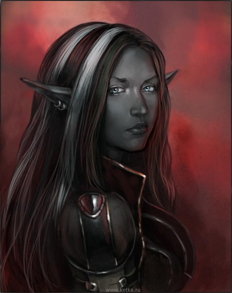 dark elf, девушка, темный эльф, скачать фото, обои для рабочего стола