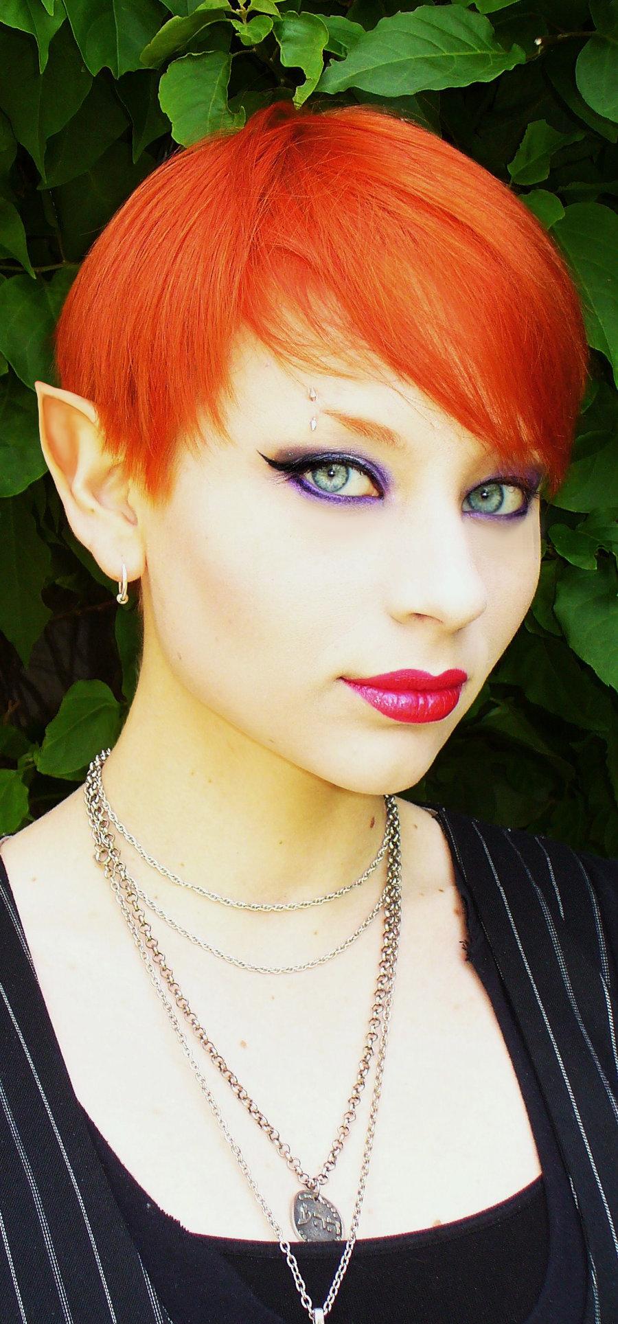 красивая девушка, эльфийка, красновлосая, фото