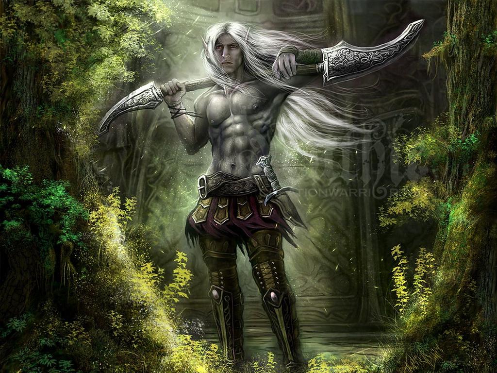 эльф воин с огромным мечом, скачать фото, обои для рабочего стола