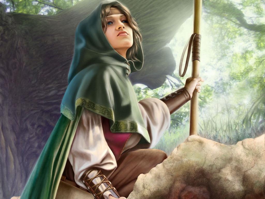 elf women, picture, девушка эльф, с посохом, скачать рисунок