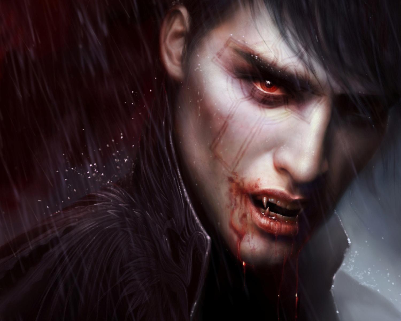 парень вампри, обои на рабочий стол, скачать фото, vampire wallpaper