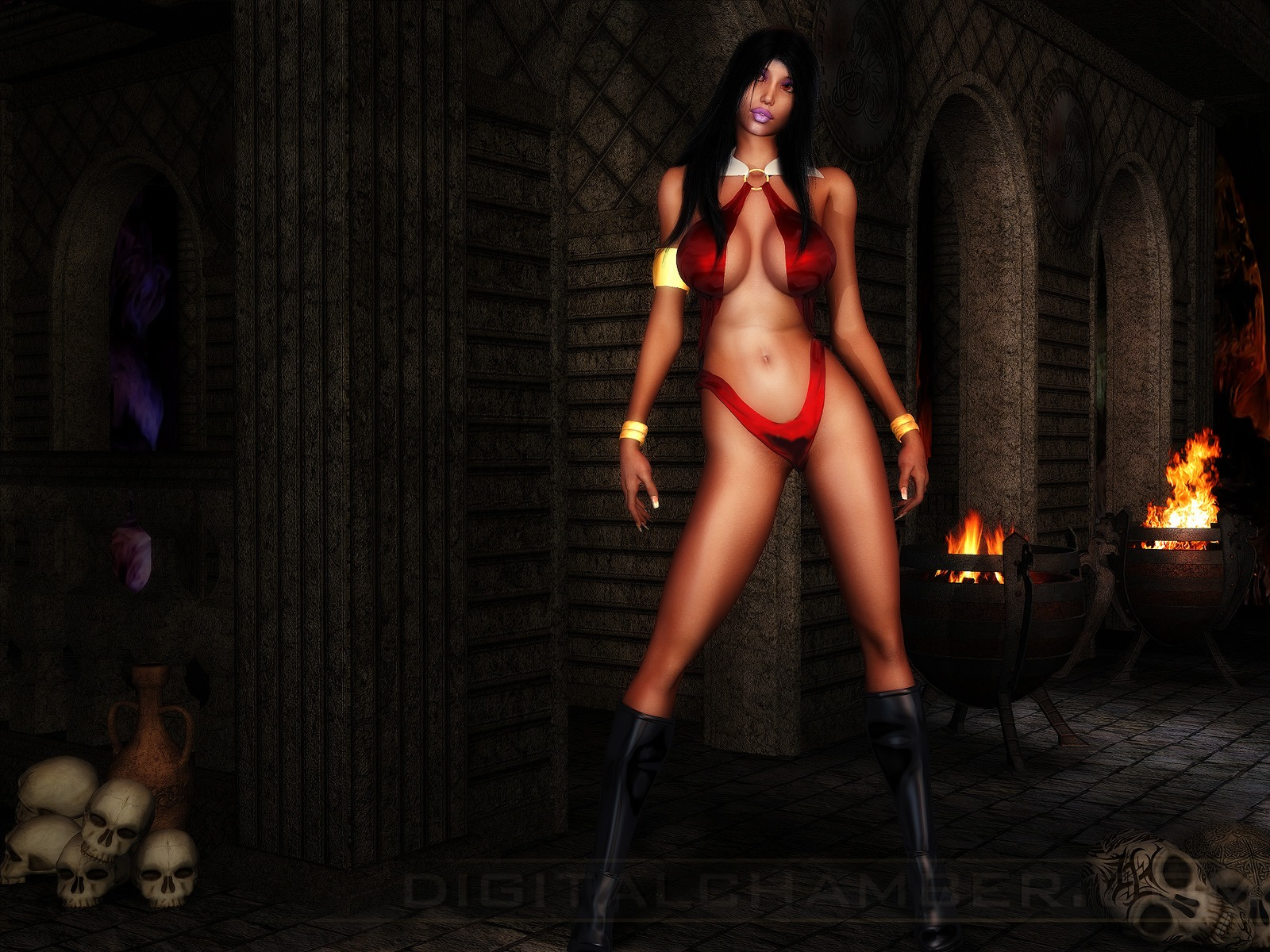 Nude vampire woman wallpaper hentia queen