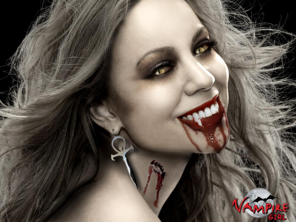 Женщина вампир, фото, обои для рабочего стола, скачать