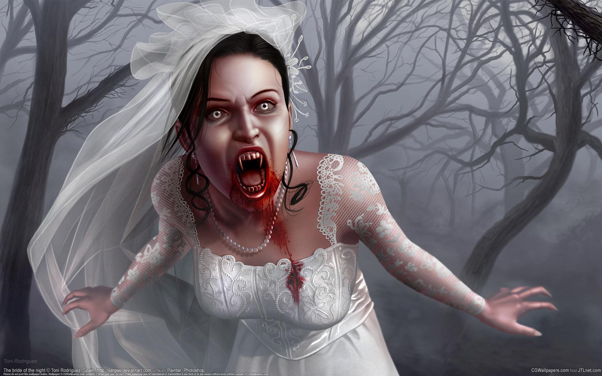 Невеста вампир, пьет кровь, скачать фото, обои для рабочего стола