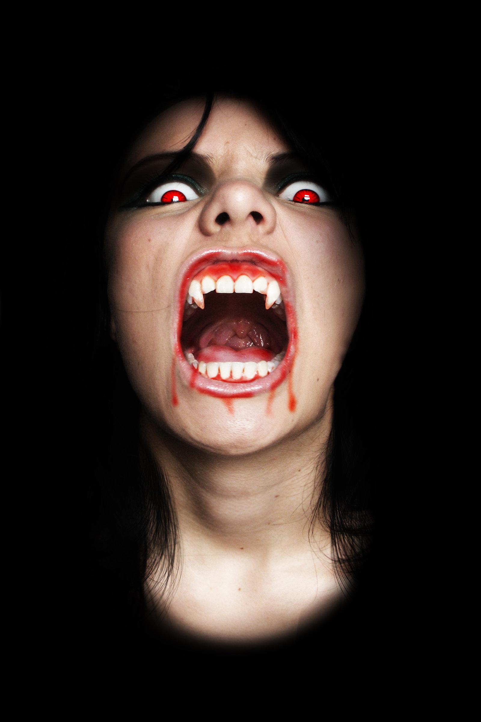 Девушка вампир, вампирша, vampire, wallpaper, скачать фото, обои для рабочего стола