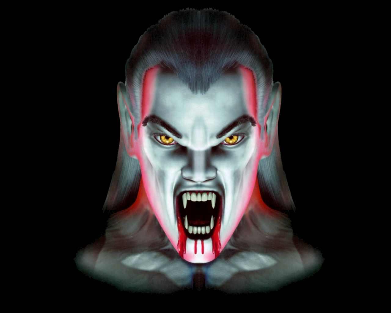 Оскал вампира, скачать обои для рабочего стола, vampire wallpaper, скаяать фото