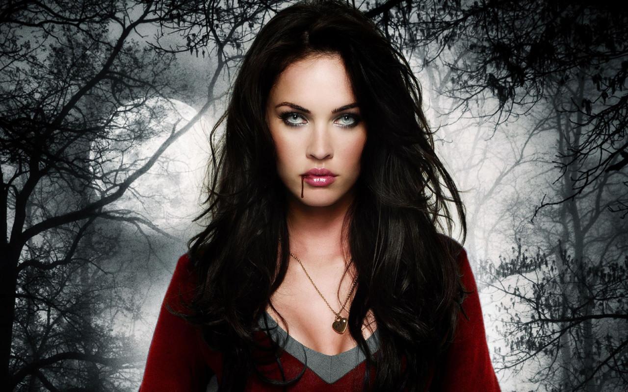 Симпотичная девушка, вампир, скачать фото, обои для рабочего стола, vampire girl wallpaper