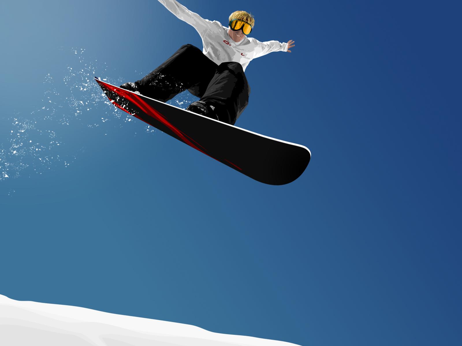 сноубордист, рисунок, фото, обои для рабочего стола, скачать бесплатно