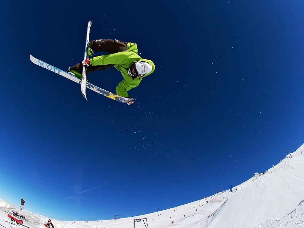 лыжник, прыжок, обои для рабочего стола, скачать
