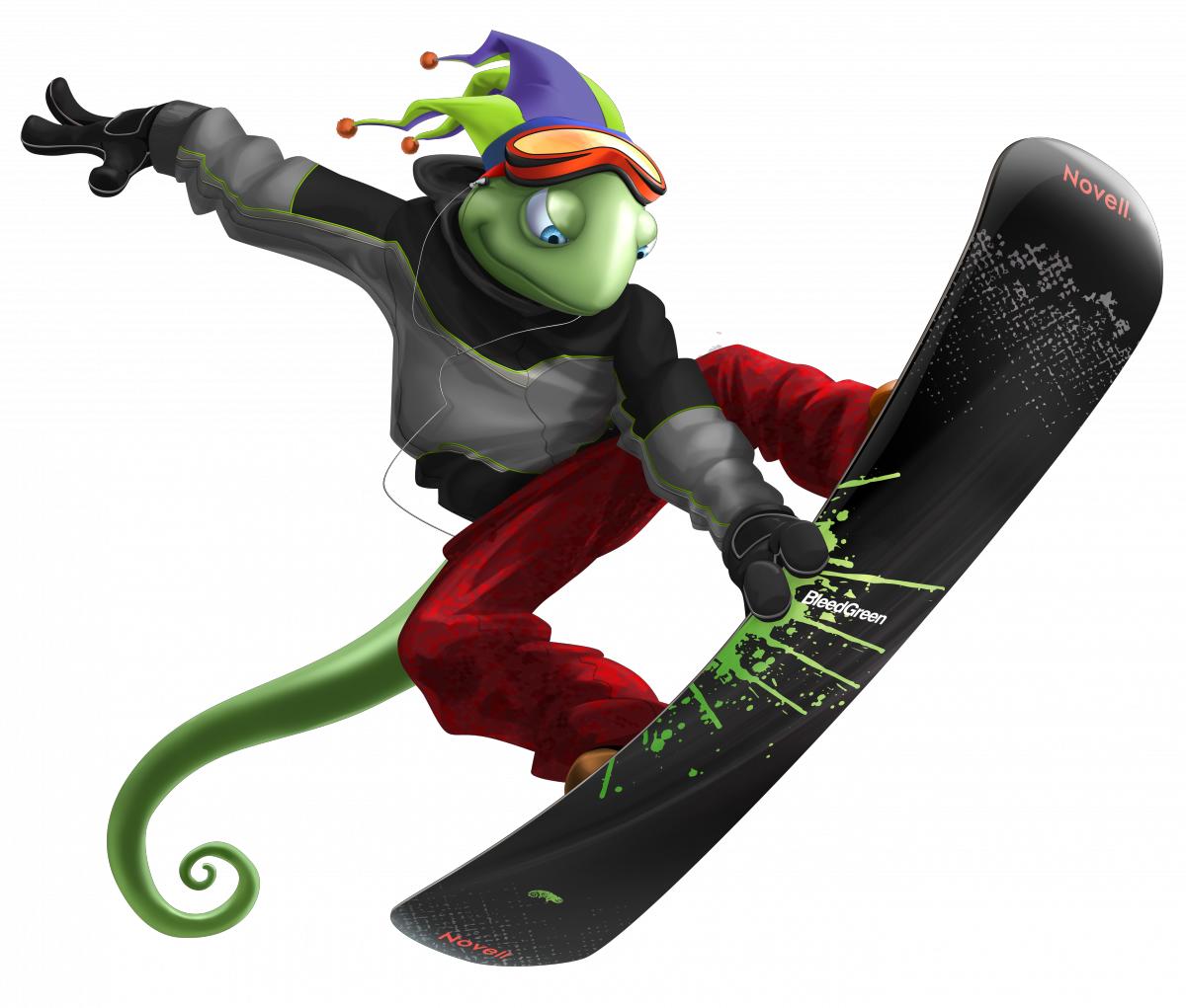 ящерица сноубордист скачать фото, обои для рабочего стола, snowboard wallpaper