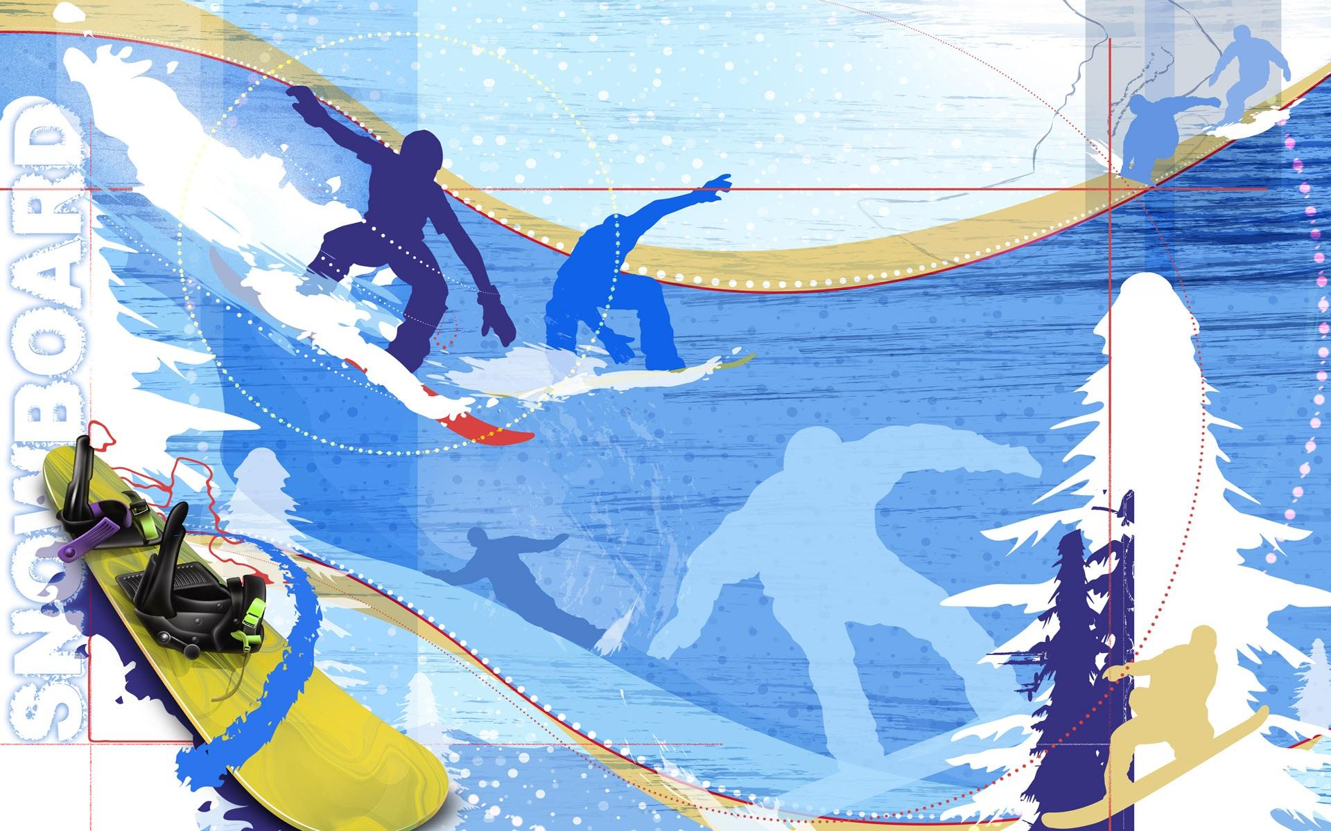 winter snowboard wallpaper, скачать обои для рабочего стола