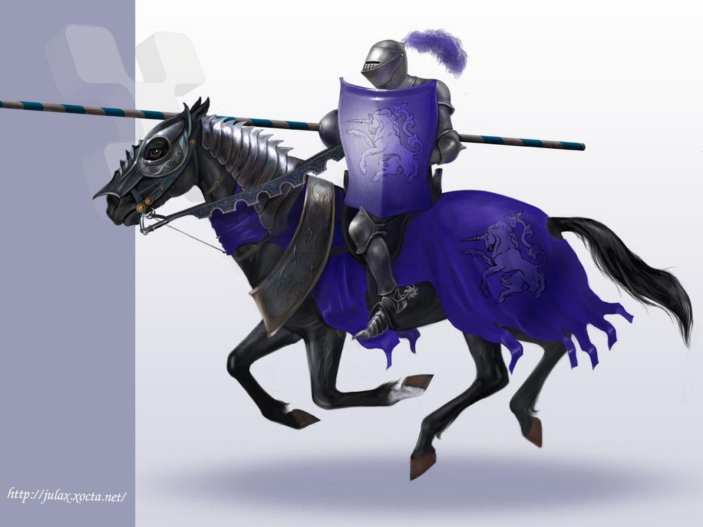 конный рыцарь, обои для рабочего стола