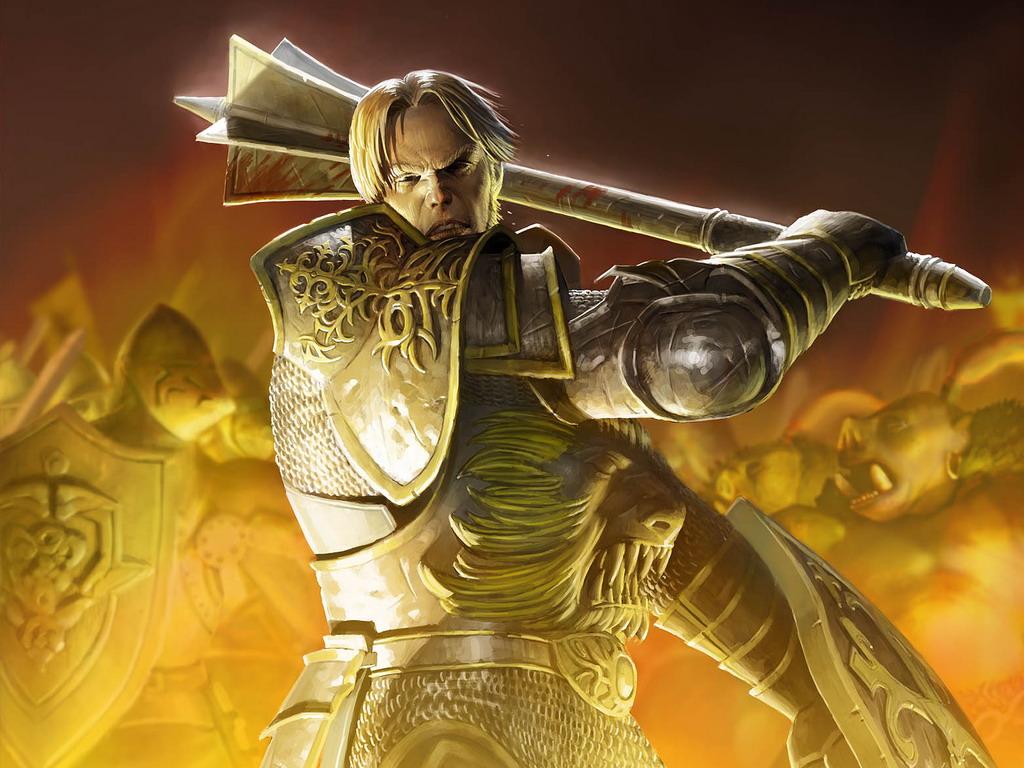 рыцарь с булавой, скачать рисунок, фото