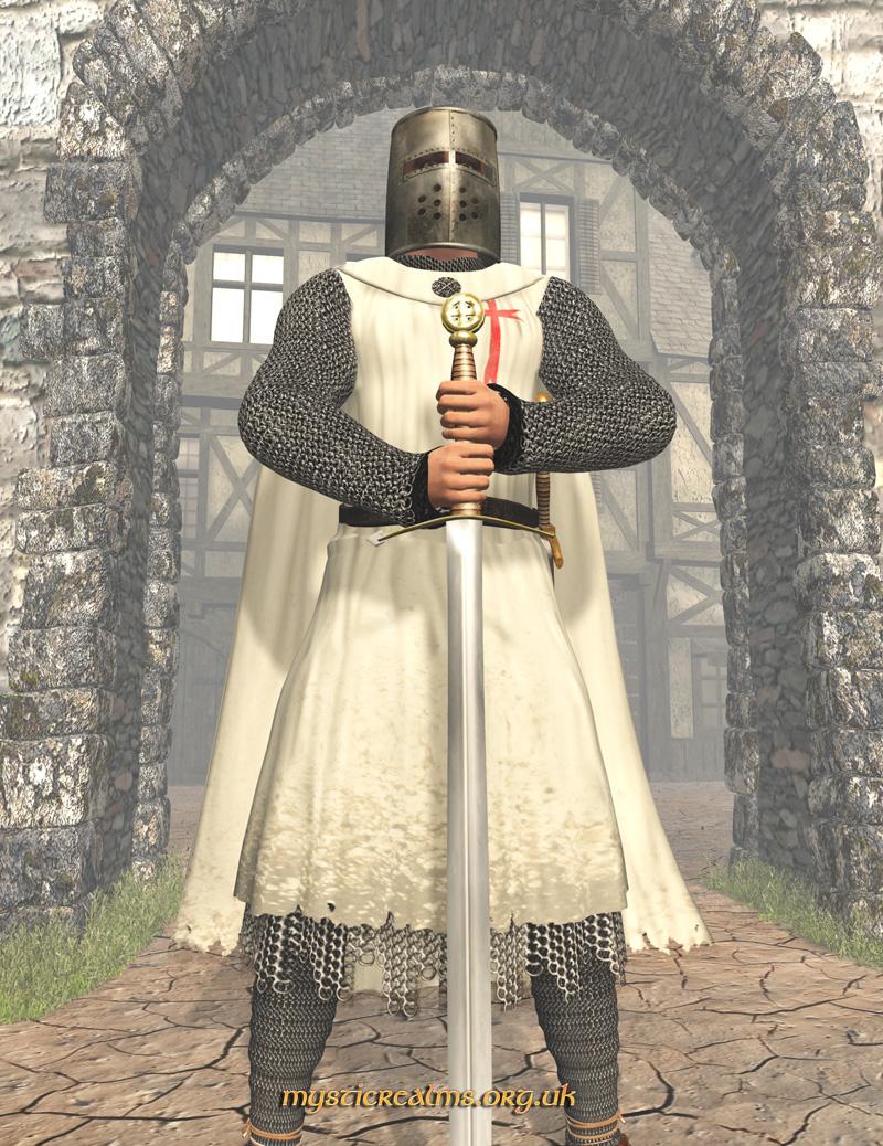 рыцарь крестоносец с двуручным мечом, фото, рисунок
