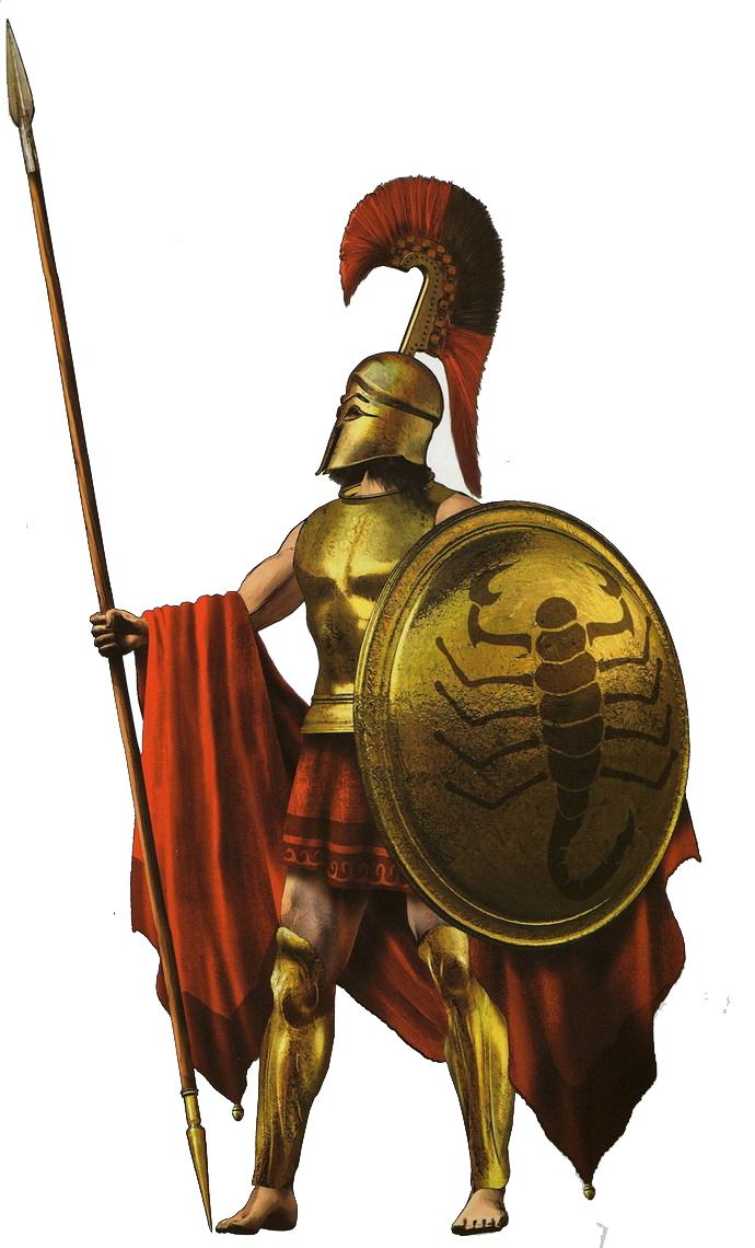 Спартак, Спарта, воин спартанец с щитом и копьем, скачать фото, рисунок, Sparta