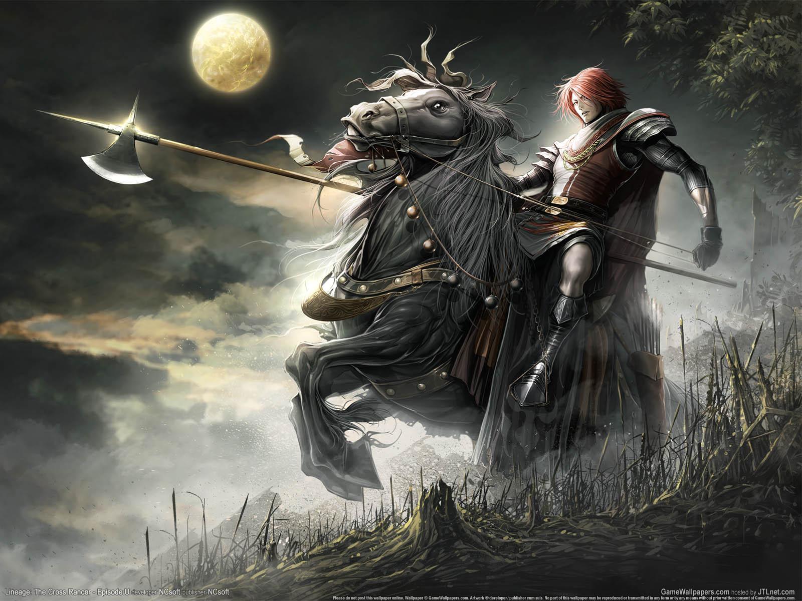 Рыцарь на коне с алебардой, скачать фото, рисунок