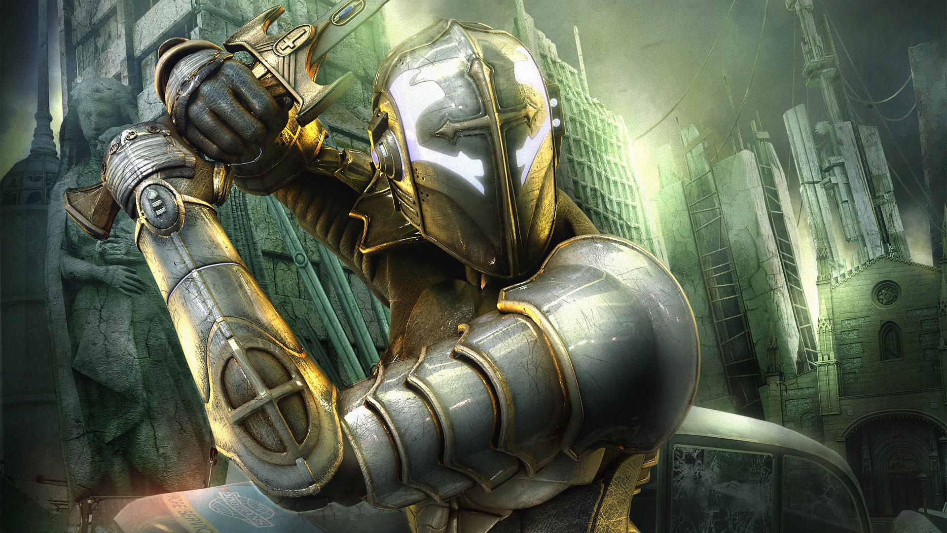 рыцарь в бою, скачать, латы, меч