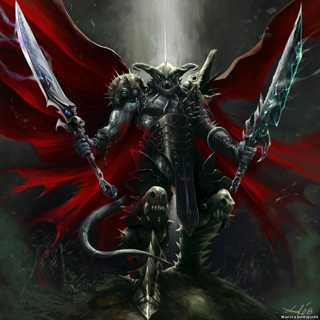 раыцарь монстр с двумя мечами, доспехи, латы