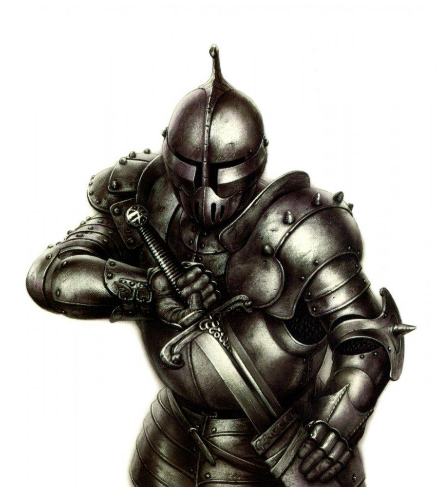 рыцарь воин, рисунок, клипарт, доспехи, латы, меч, скачать бесплатно