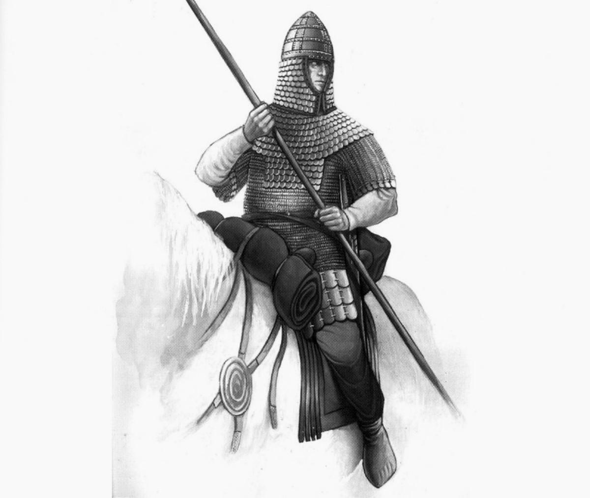 рисунок всадник рыцарь с копьем, скачать
