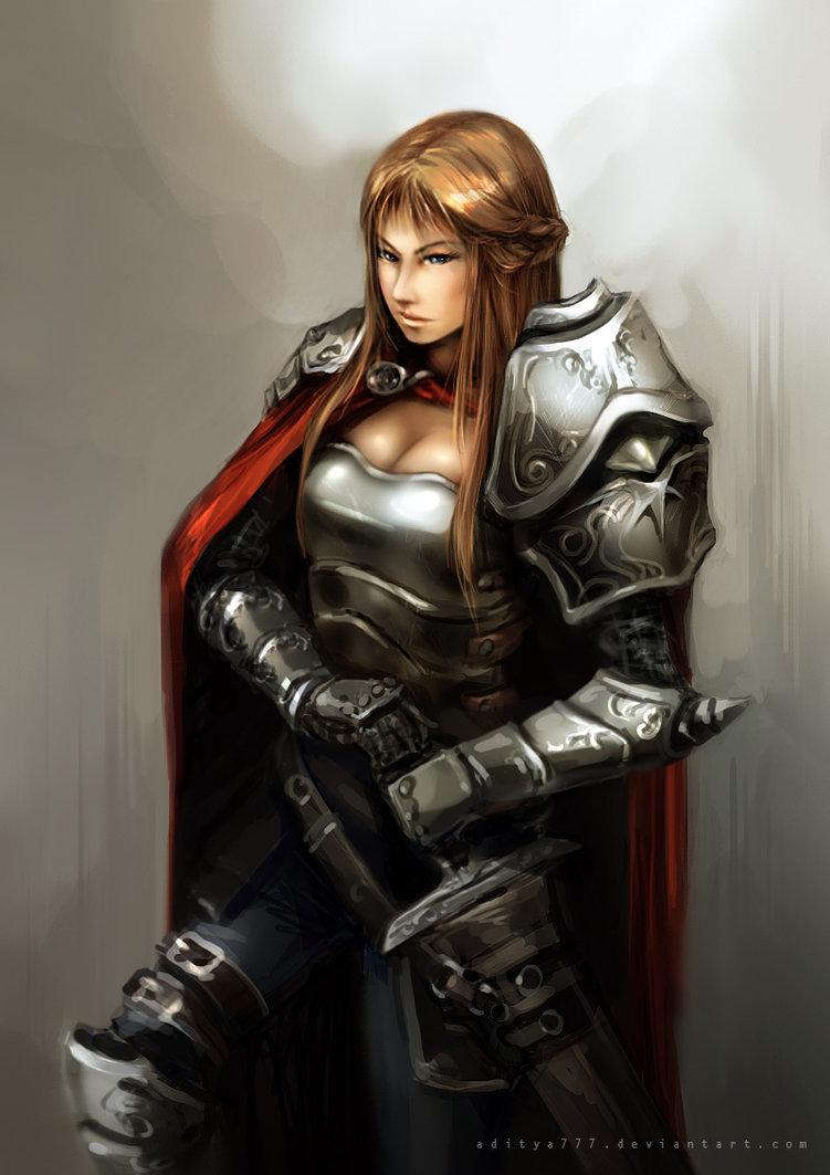 knight girl, девушка рыцарь фото, обои для рабочего стола, рисунок