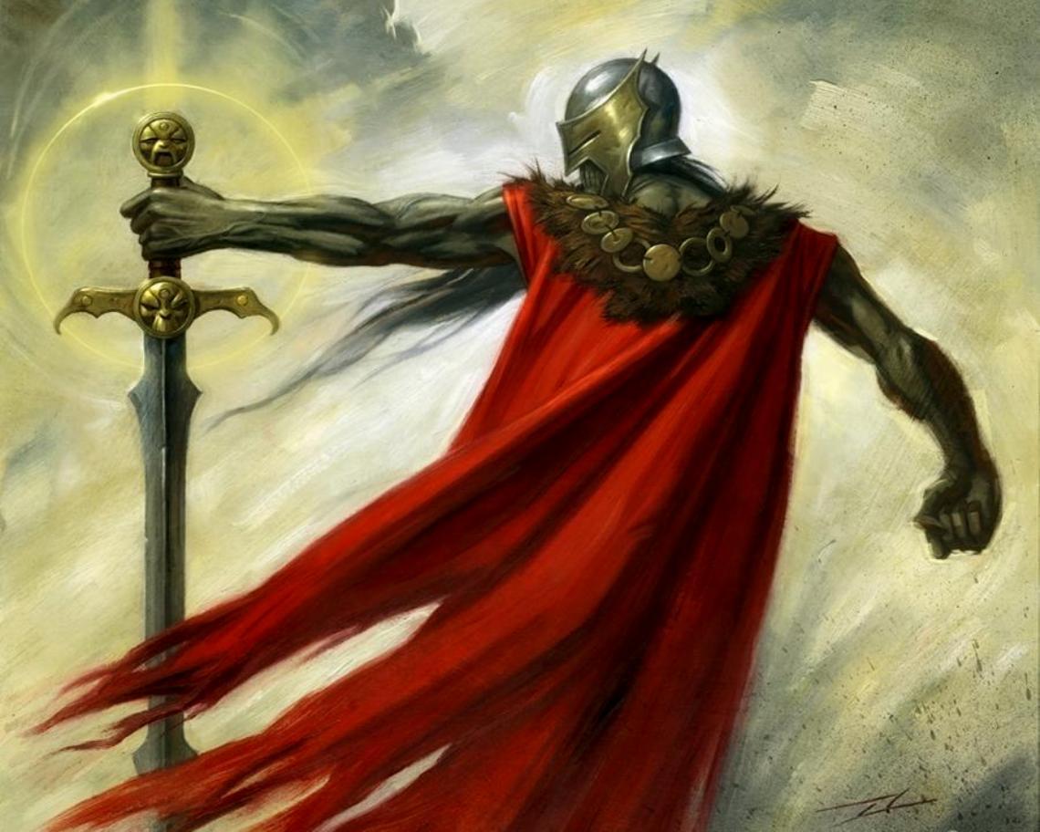 knight, рыцарь в доспехах с мечом