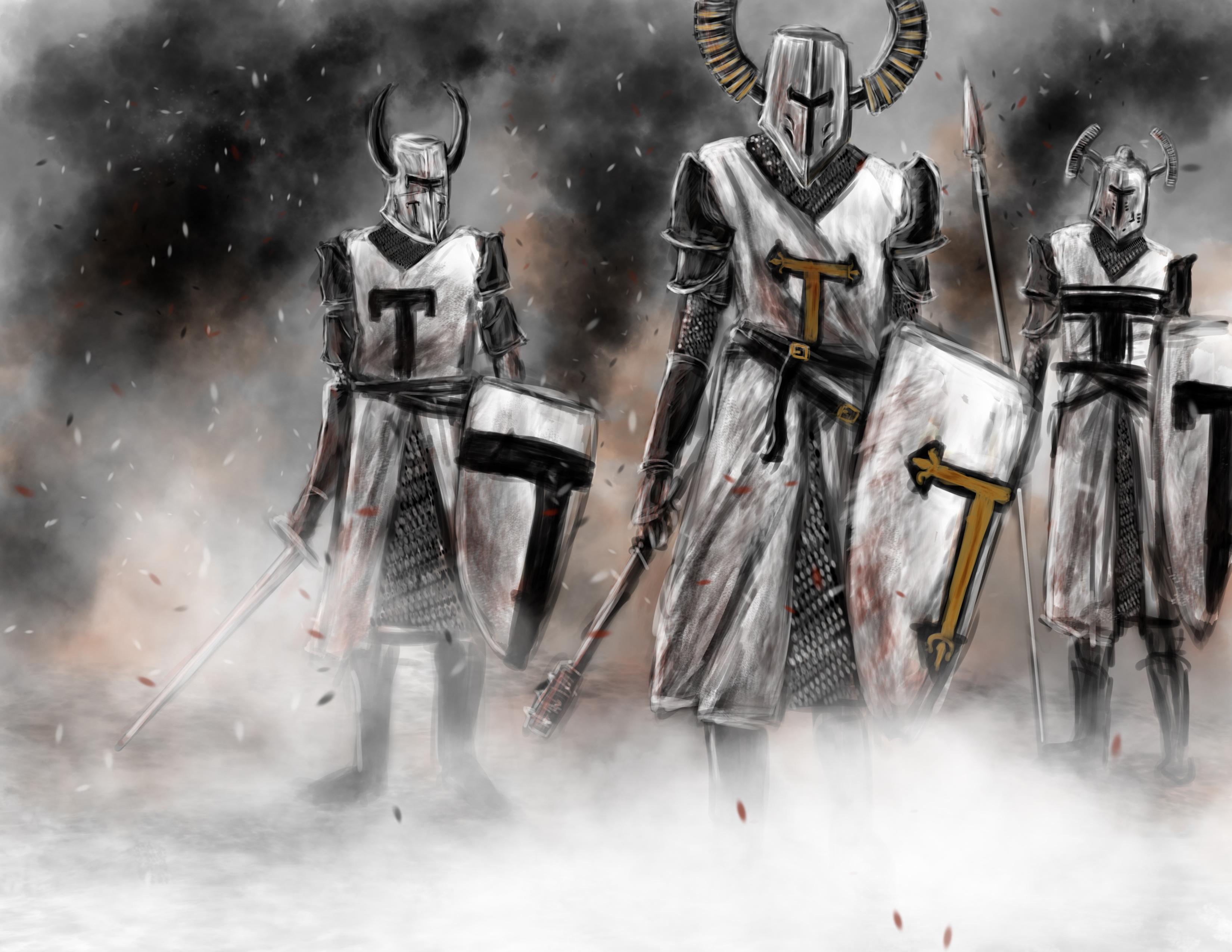 Немецкие рыцари, крестоносцы, скачать фото, рисунок, обои для рабочего стола