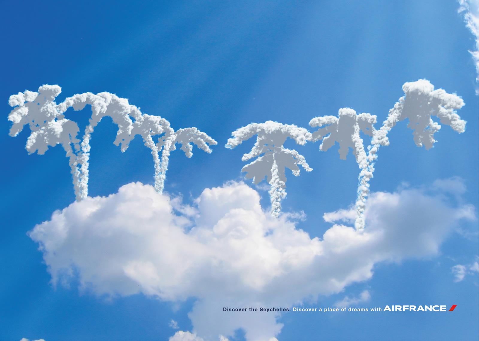 обои для рабочего стола, облака, пальмы из облаков, скачать