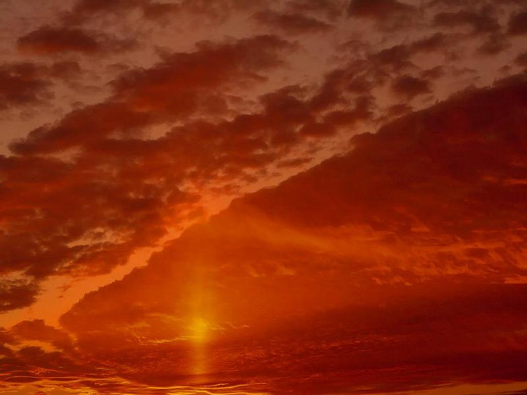 небо, закат, скачать фото, обои для рабочего стола, облака