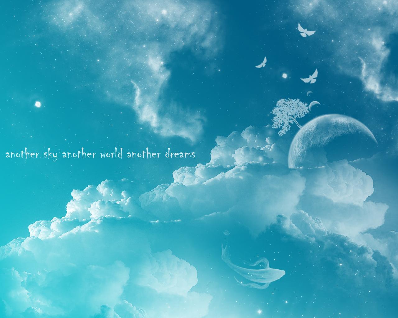 небо, птицы, облака, скачать обои для рабочего стола