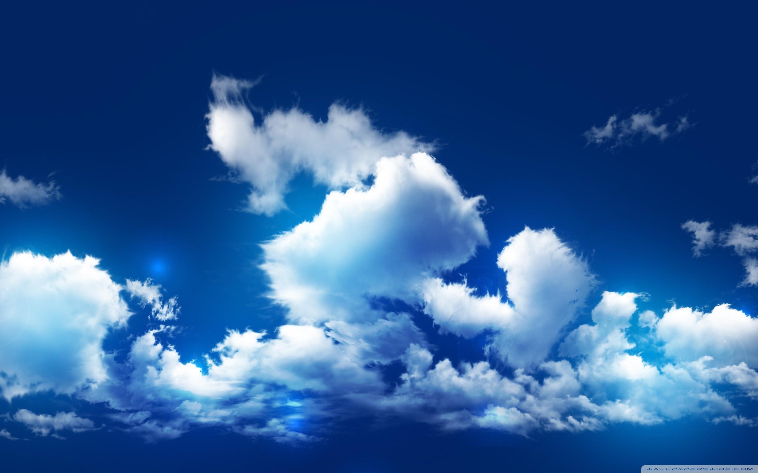 синее небо, облака, скачать фото, обои для рабочего стола, скачать