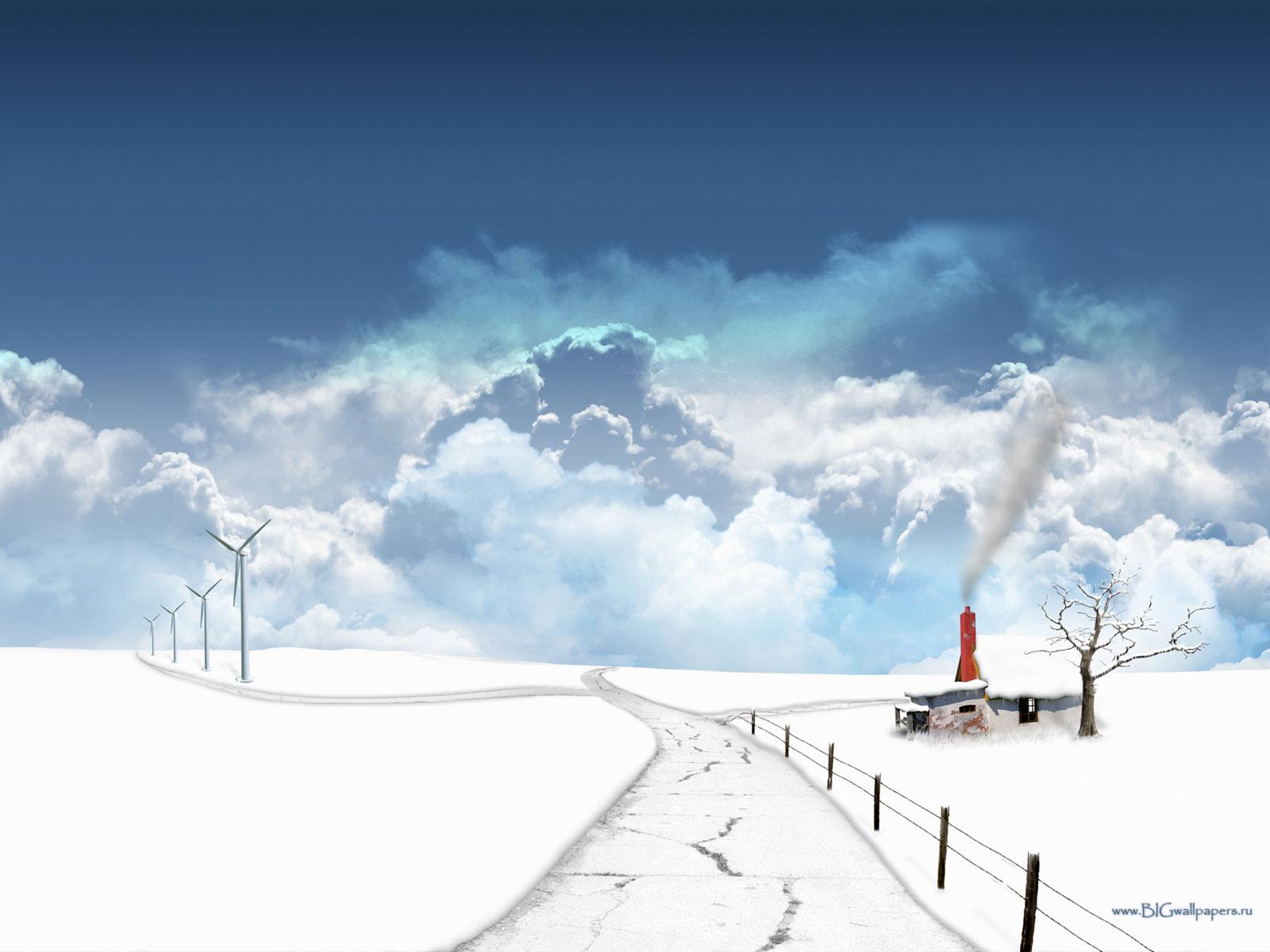 дорога, небо, скачать фото, обои для рабочего стола, облака