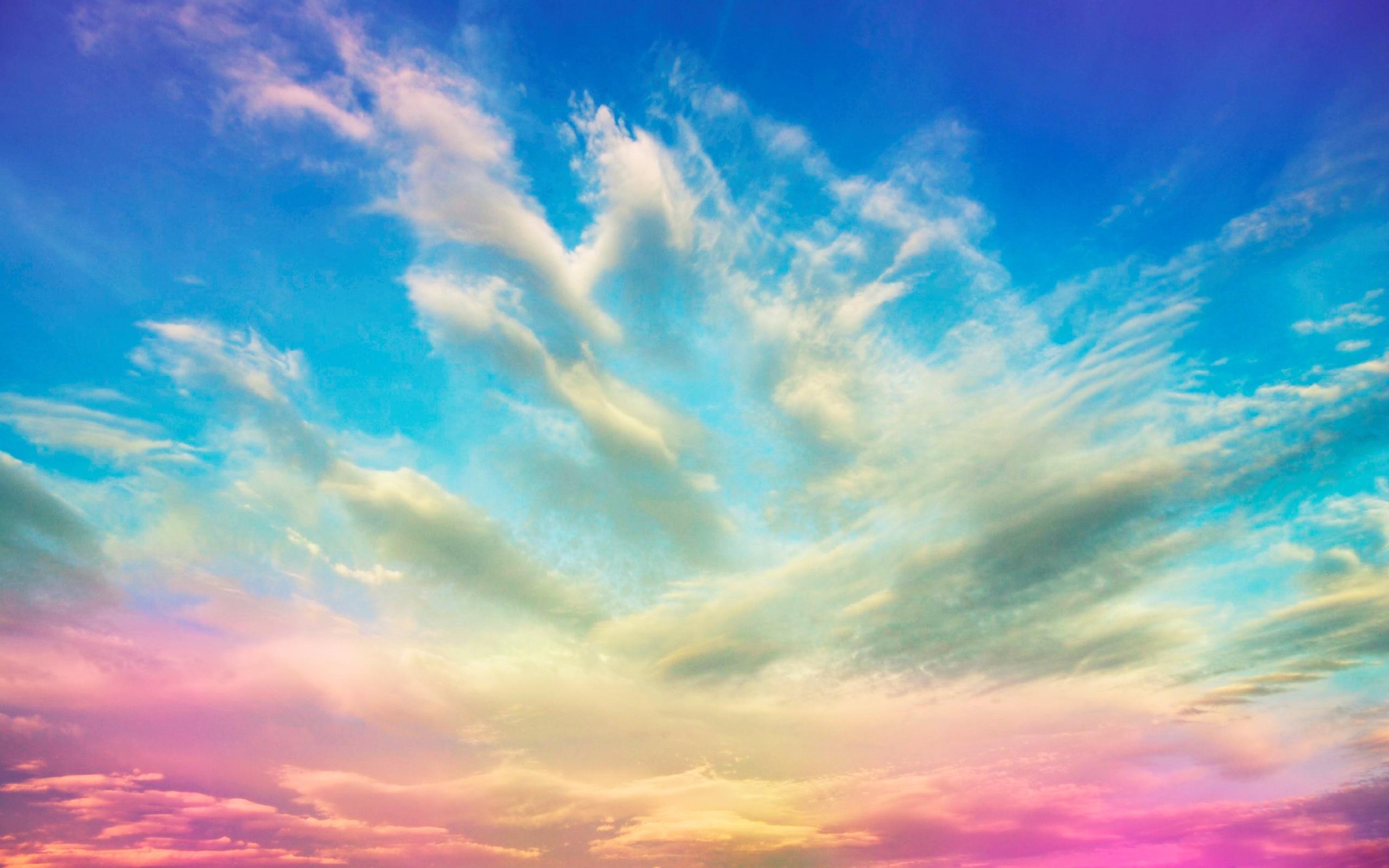 разноцветное небо, скачать фото, обои для рабочего стола, sky cloud wallpaper