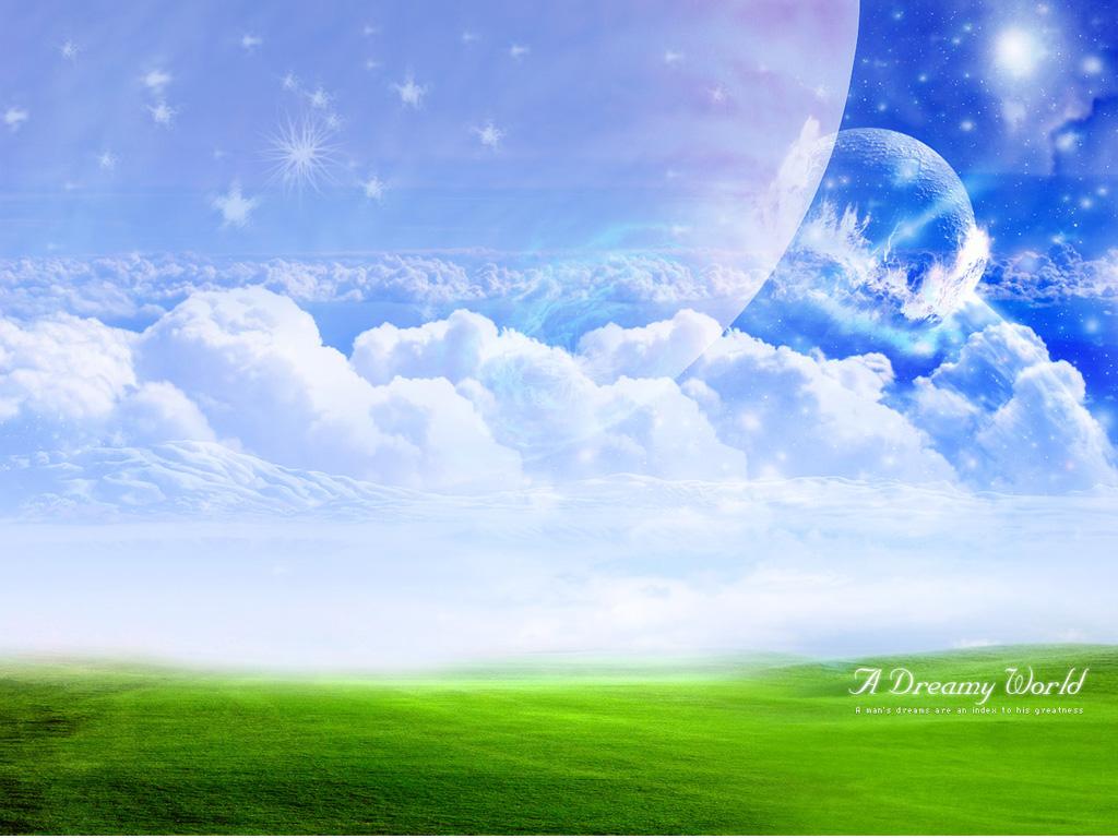 трава, небо, облака, обои для рабочего стола, скачать