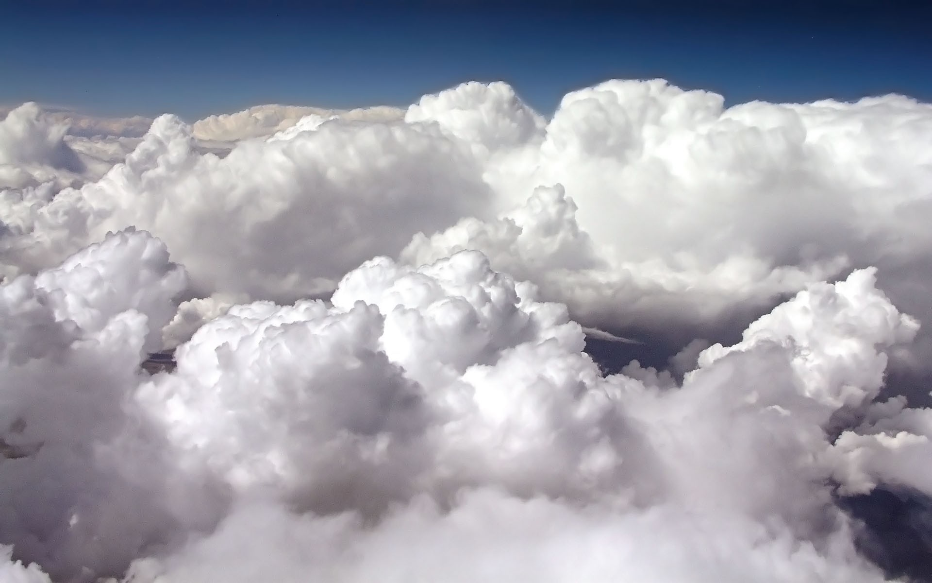 белые кучевые облака, скачать фото, обои для рабочего стола