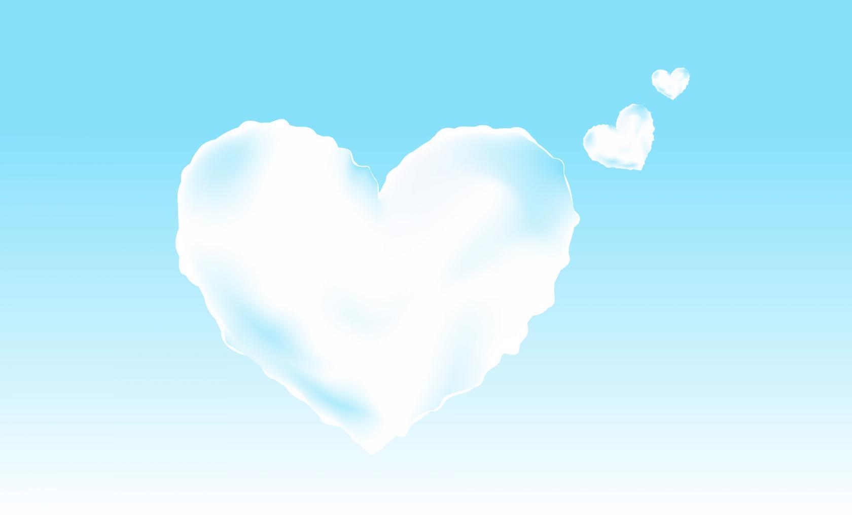 сердце-облако, скачать фото, обои на рабочий стол
