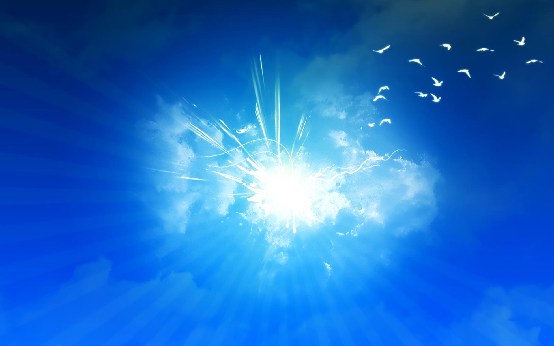 небо, сияние, обои для рабочего стола, скачать