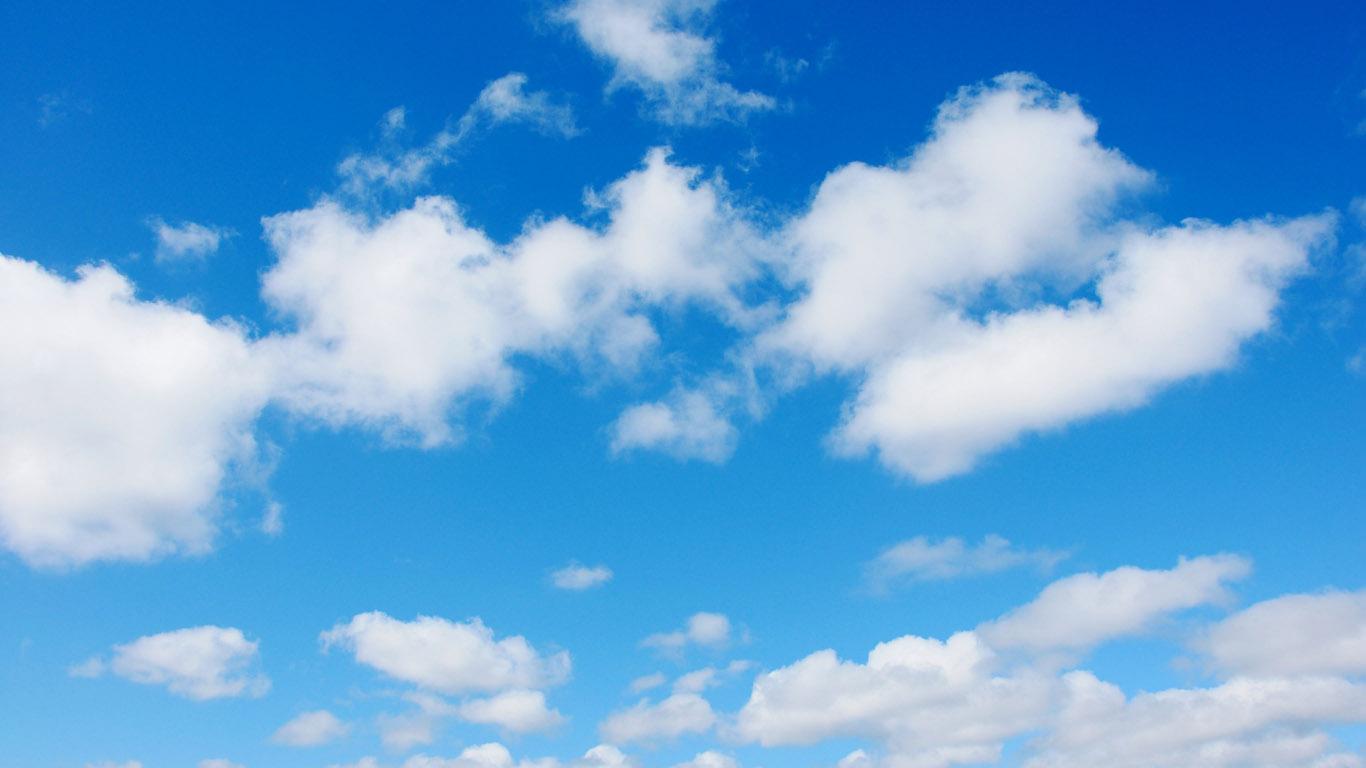 небо, перистые белые облака, скачать фото, обои для рабочего стола